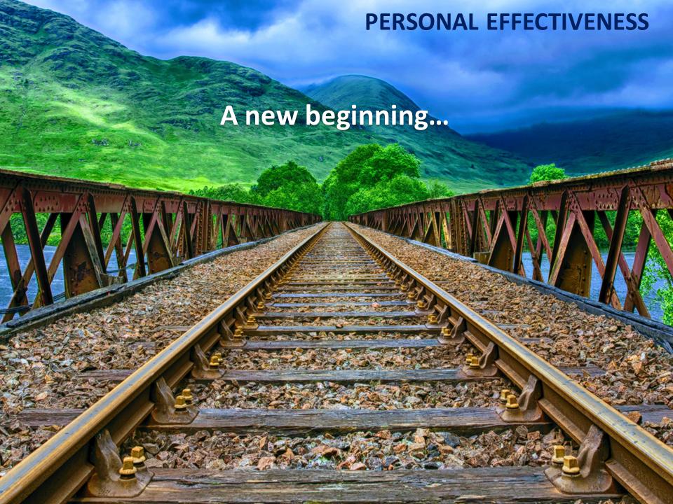 A new beginning …