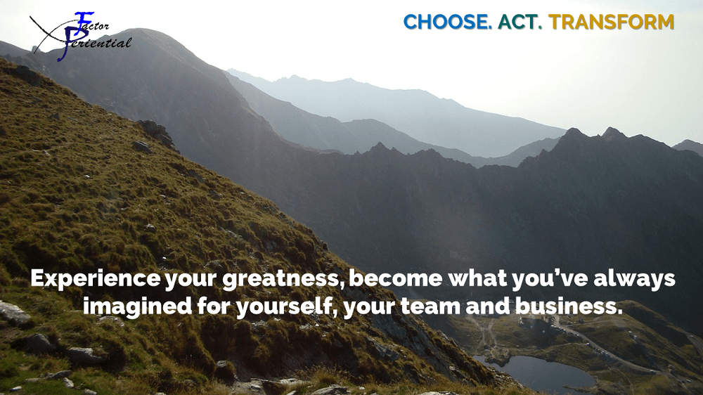 Experience your greatness quote