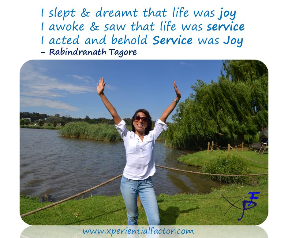 Service is joy