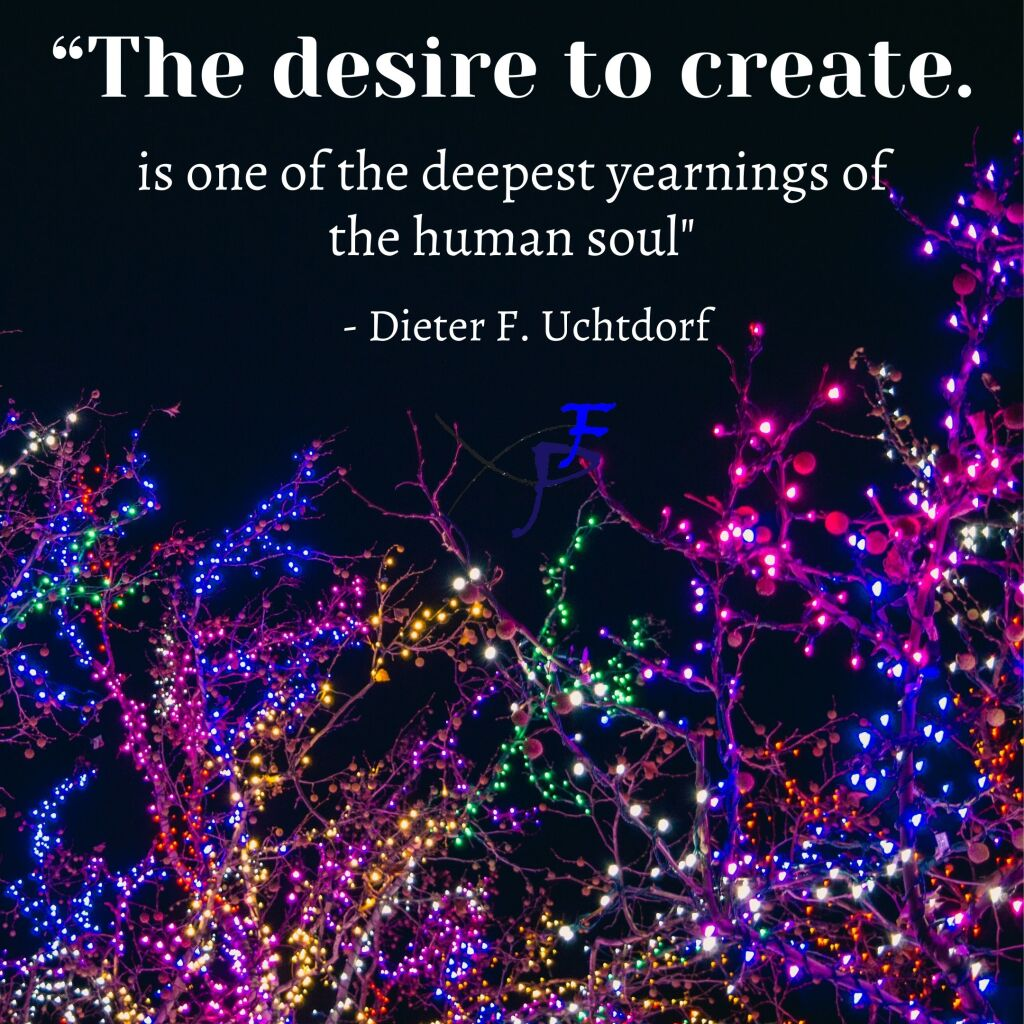 The desire to create your kind of art